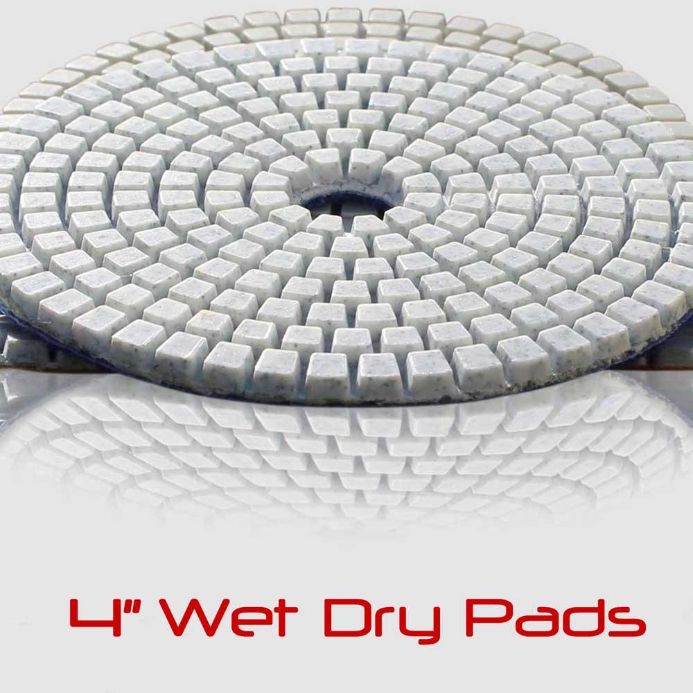 4 Inch Wet Diamond Polishing Pads Set