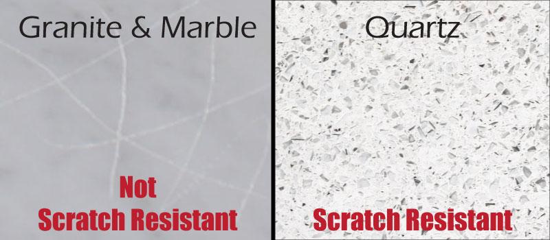 Quartz Countertop Scartch Resistant